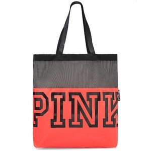 VS PINK Neon Red Mesh Tote